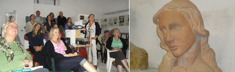 Evening lecture in the Konstam Museum and sculpture by Lucille
